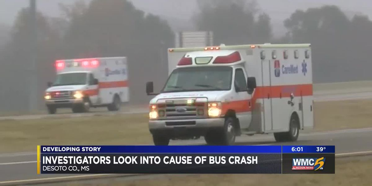 Investigators look into cause of bus crash