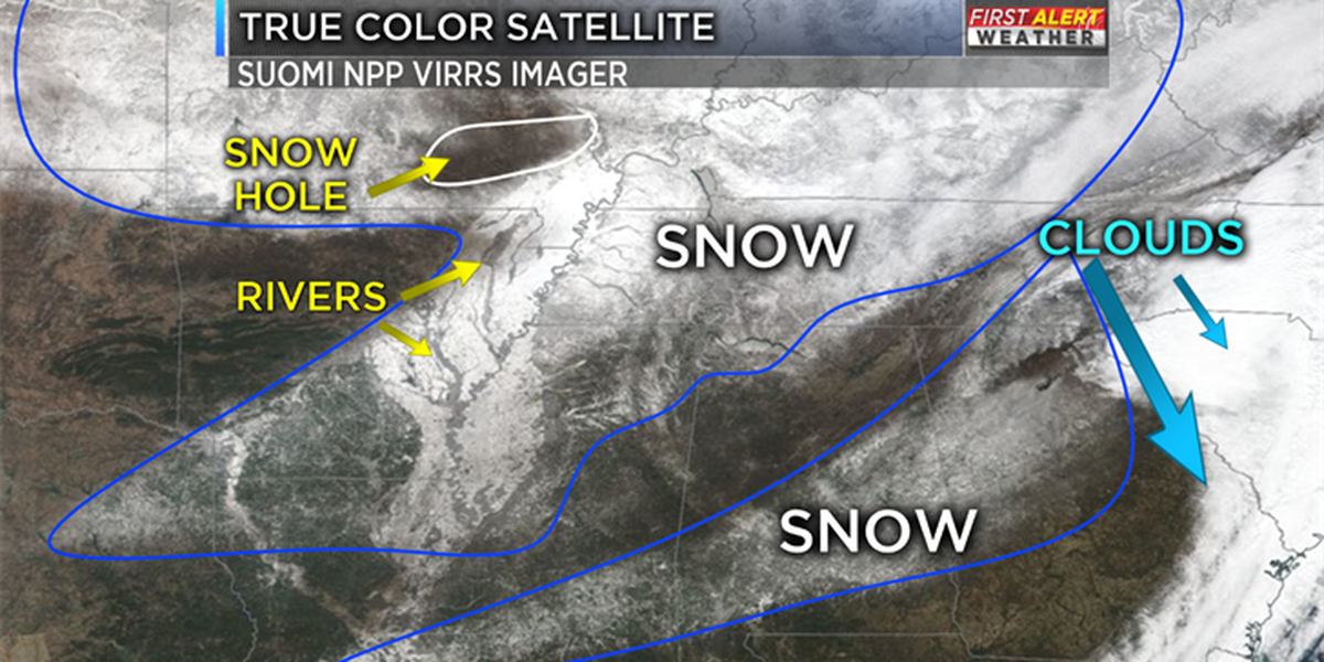 Seeing snow from space and the science behind it