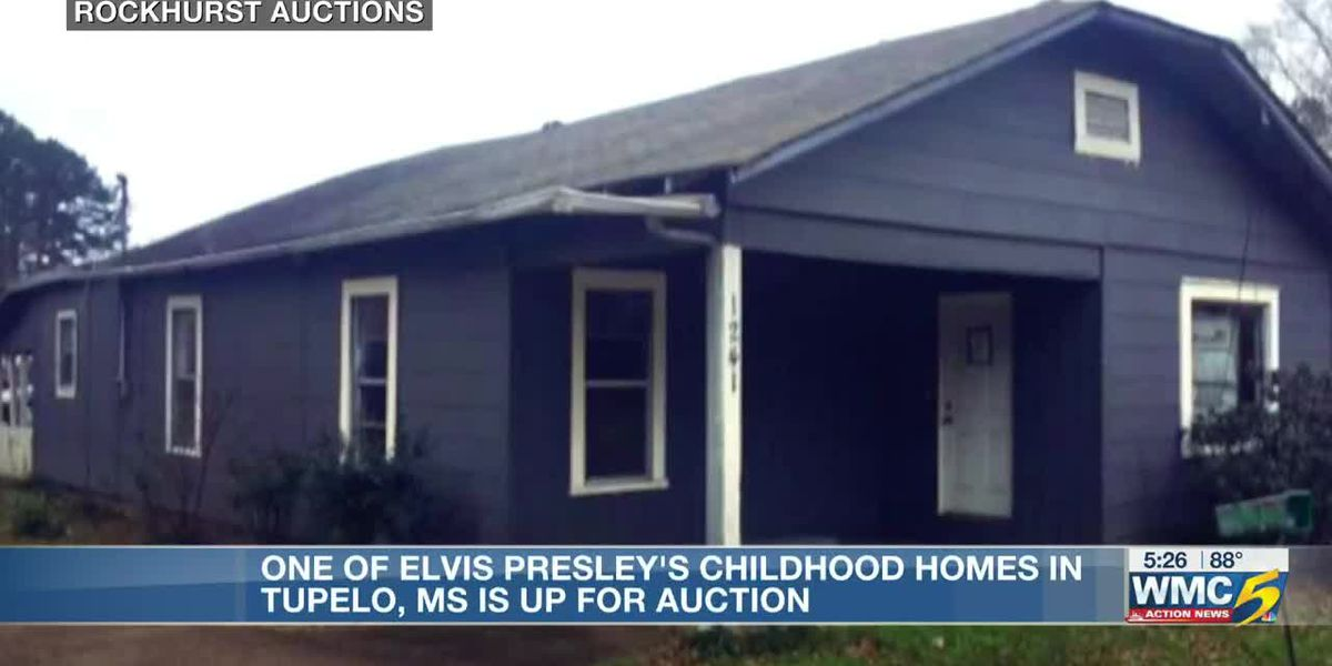 Elvis Presley's childhood home in Miss. up for auction