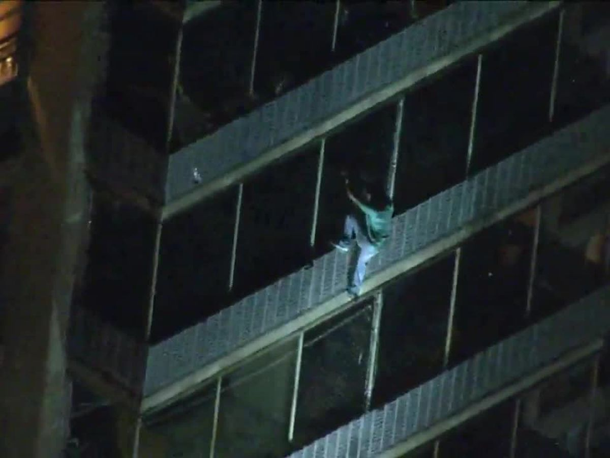 WATCH: Real-life 'Spider-Man' scales down Philadelphia high-rise to escape fire