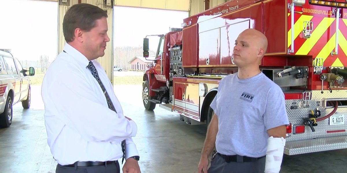 Injured volunteer firefighter: 'I would do it again'