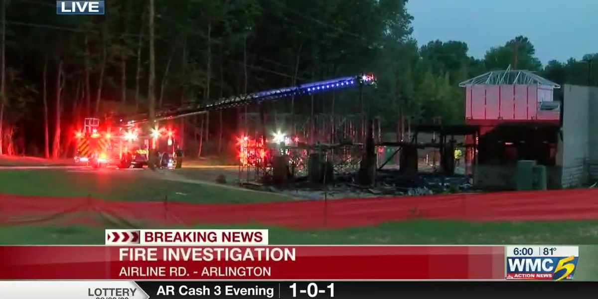 Crews investigating fire at construction site in Arlington