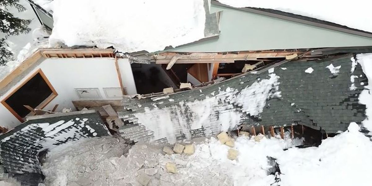 Couple saved by contractor's urgent warning just before roof collapses