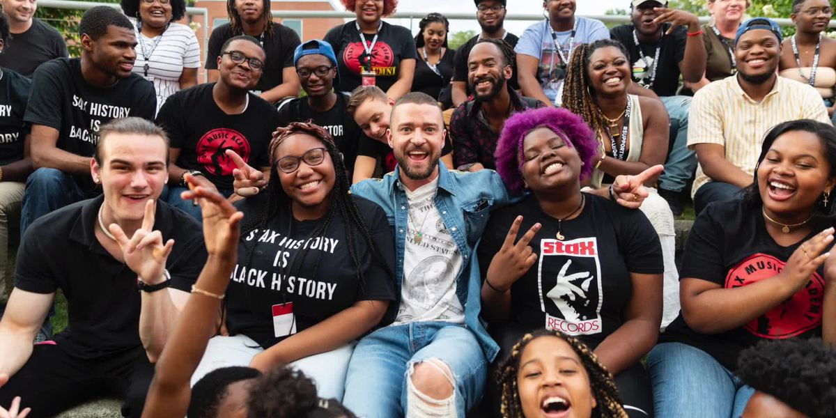 Justin Timberlake, Timbaland surprise students at Stax Music Academy