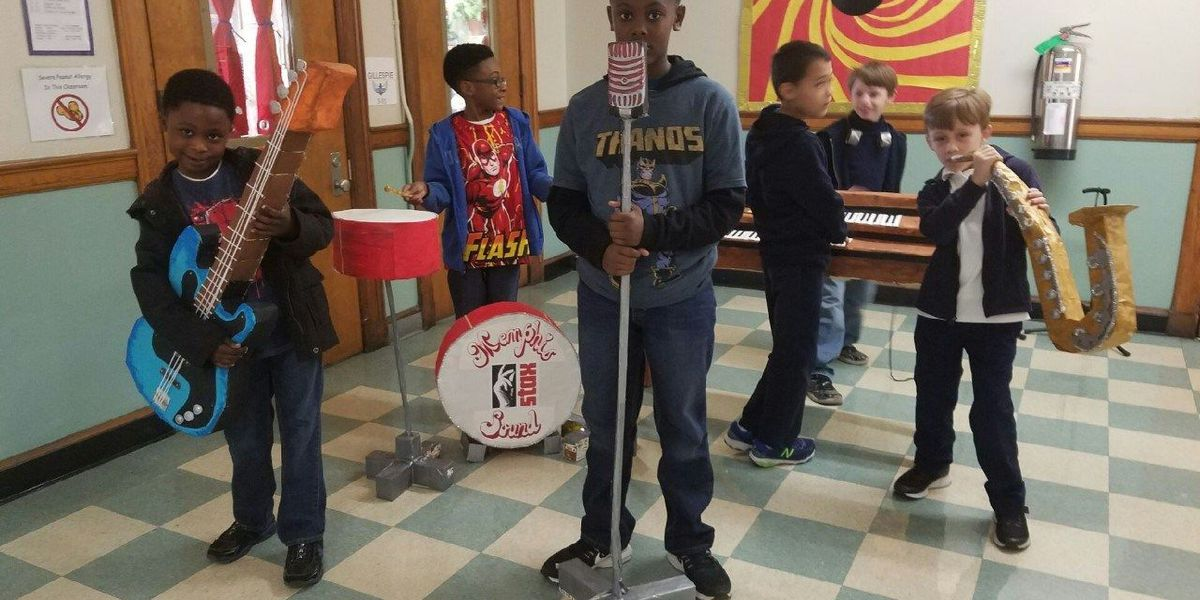 3rd graders turn milk cartons into musical instruments