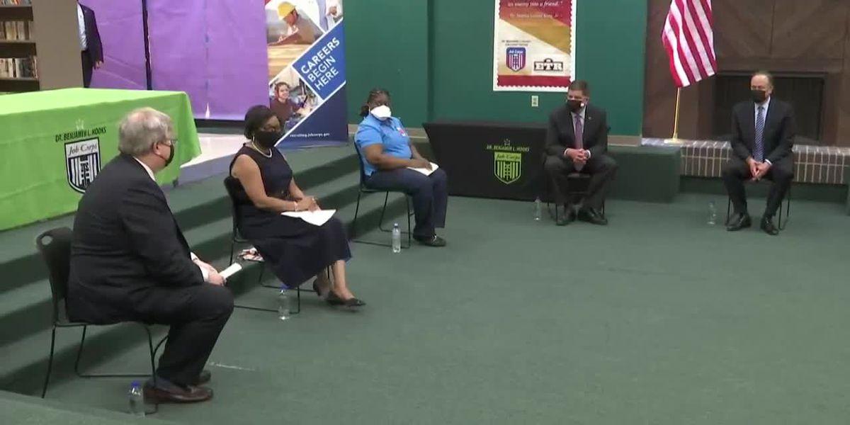 Second gentleman visits Memphis to discuss jobs, family plans