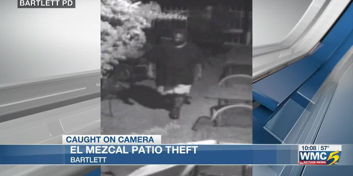 Caught on camera: Suspect steals patio furniture from Bartlett restaurant