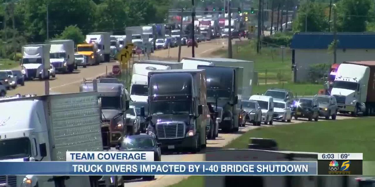 Truck drivers impacted by I-40 bridge shutdown
