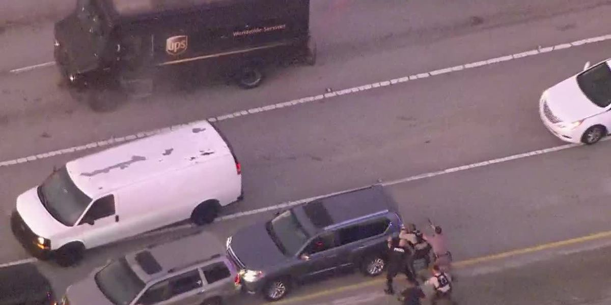 GRAPHIC: Bullets fly during fatal Florida shootout on highway