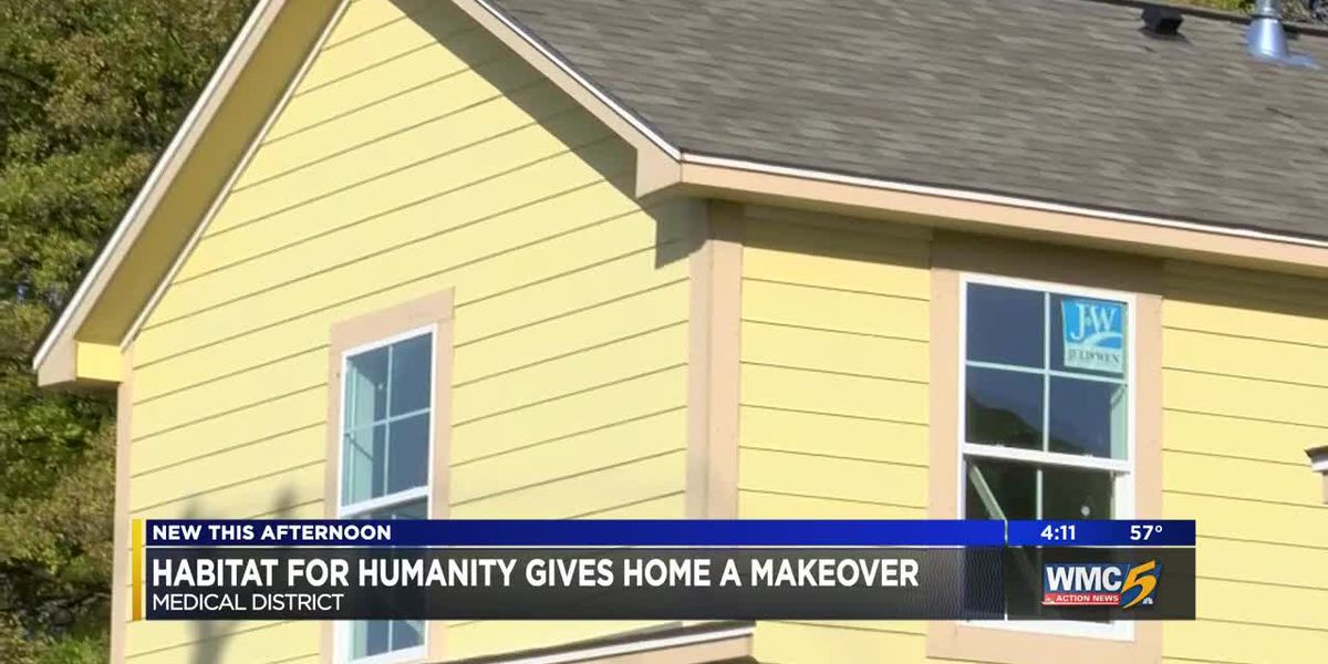 Habitat for humanity gives home a makeover