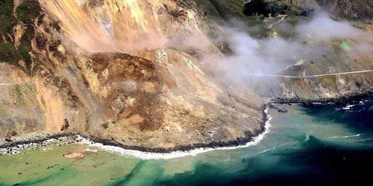 Landslide adds 13 acres to California coast
