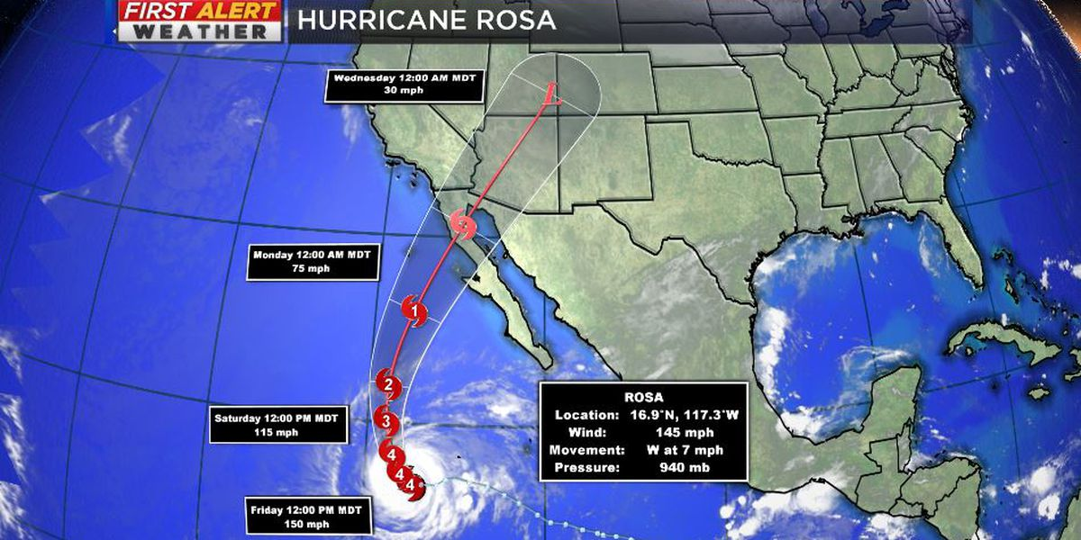 Hurricane Rosa to weaken, bring impacts to Southwest United States