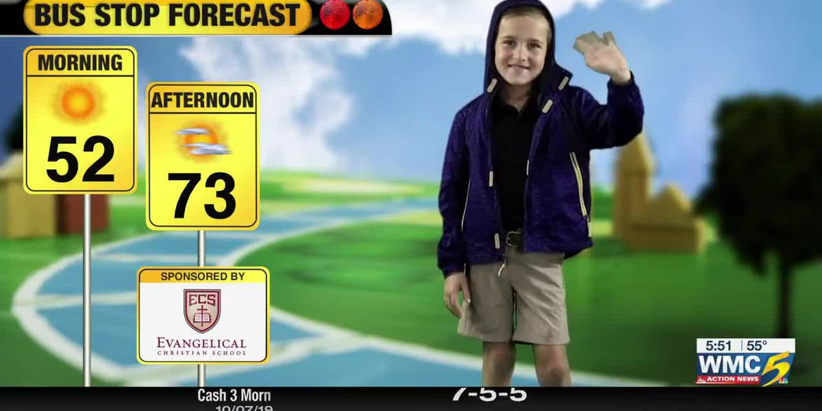 October 8, 2019 bus stop forecast