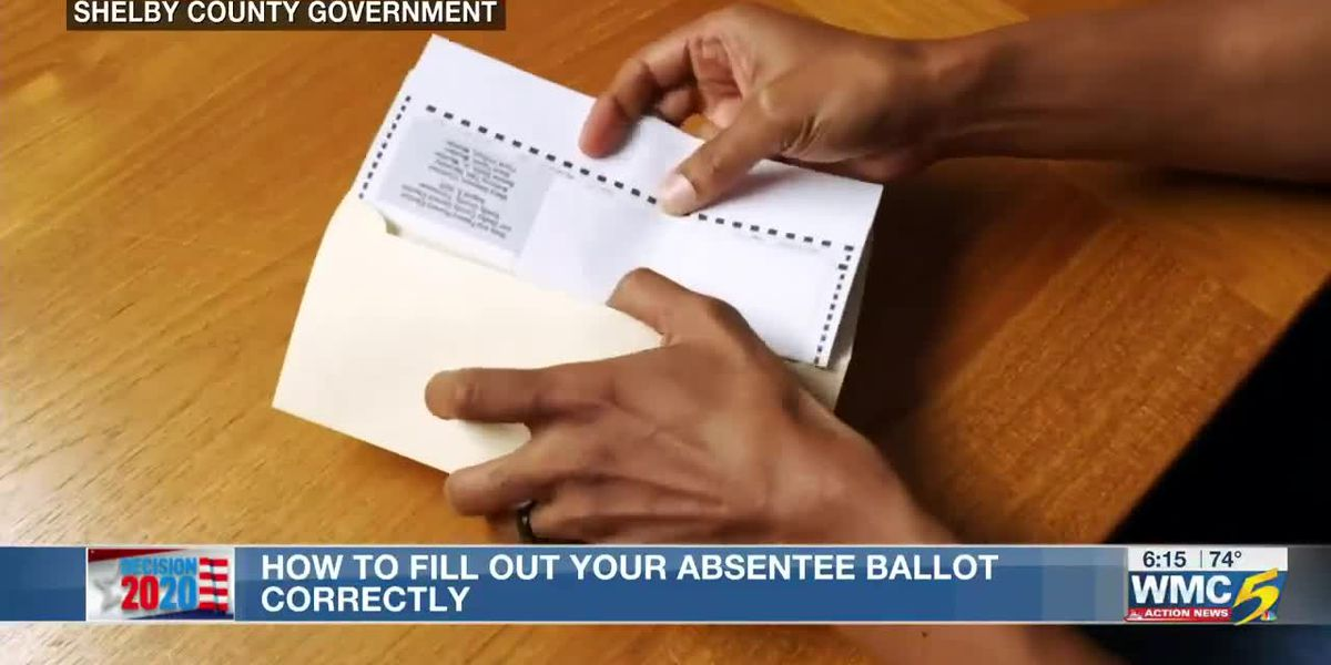 How to fill out your Shelby County absentee ballot correctly for November election