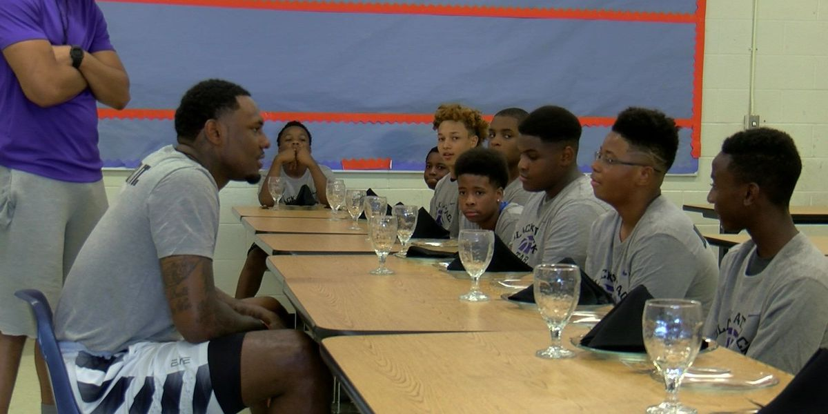 NBA player hosts basketball camp that teaches more than hoops