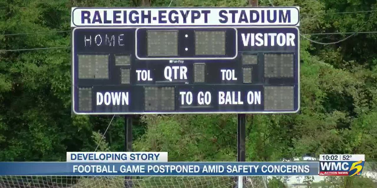 Football game postponed amid safety concerns