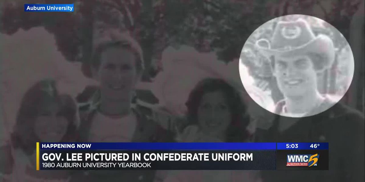 Gov. Lee pictured in confederate uniform