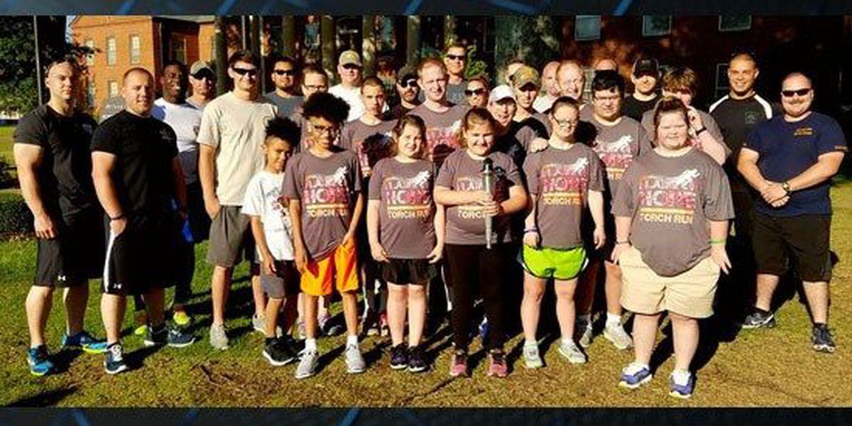 5 law enforcement agencies run with Special Olympians