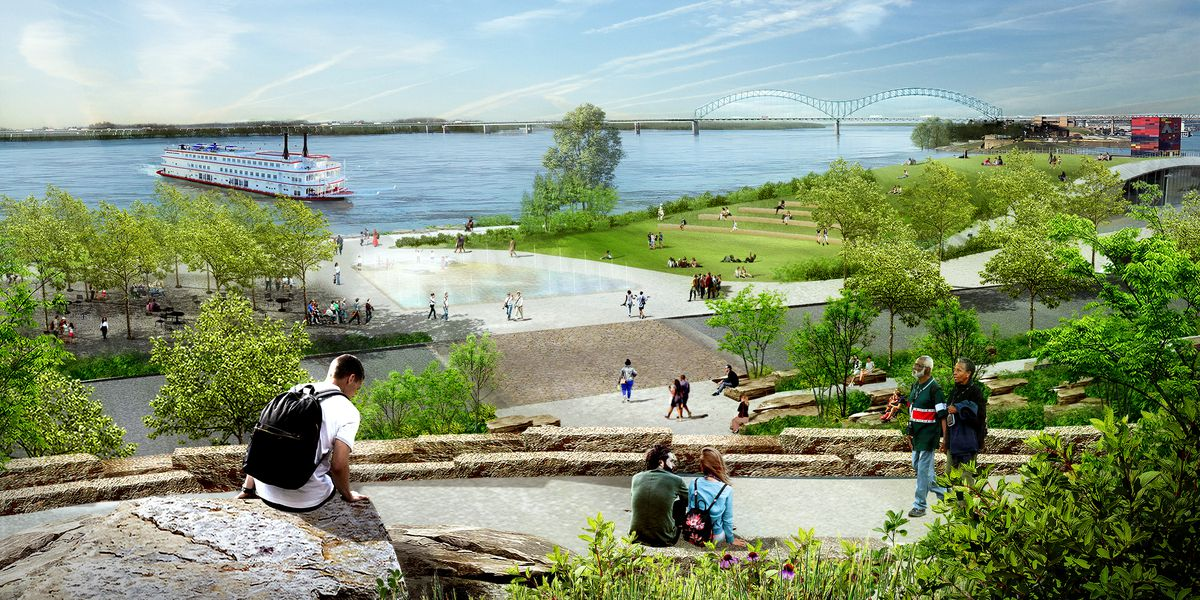 Memphis River Parks Partnership unveils new renderings for redesigned Tom Lee Park