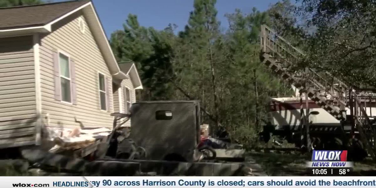 Couple hospitalized after being rescued from house blown off of its stilts in Zeta
