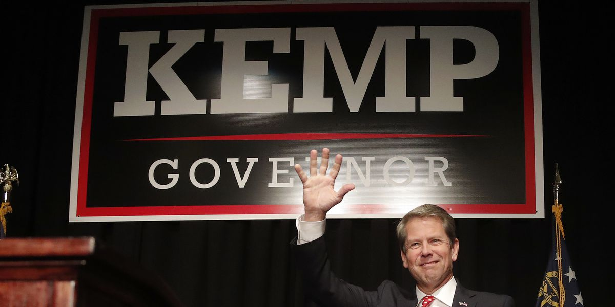 Brian Kemp steps down as secretary of state after declaring victory over Stacey Abrams in Georgia governor's race