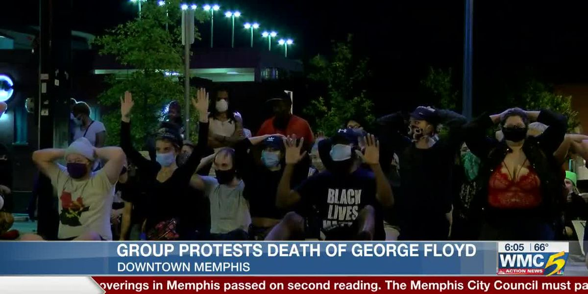 Group protests death of George Floyd