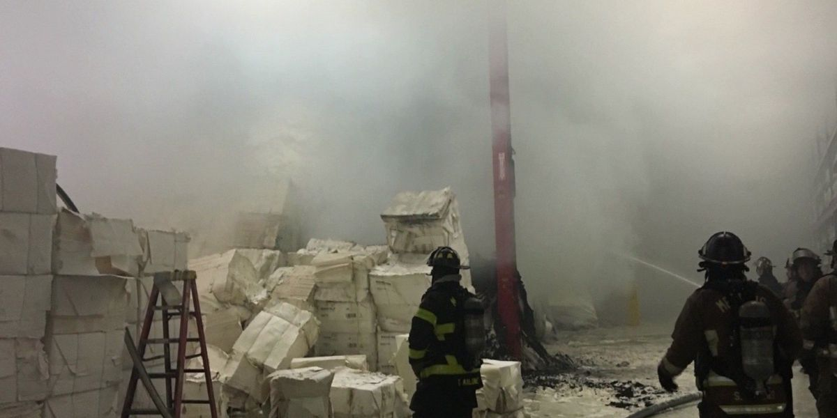 MFD fights blaze at paper goods business