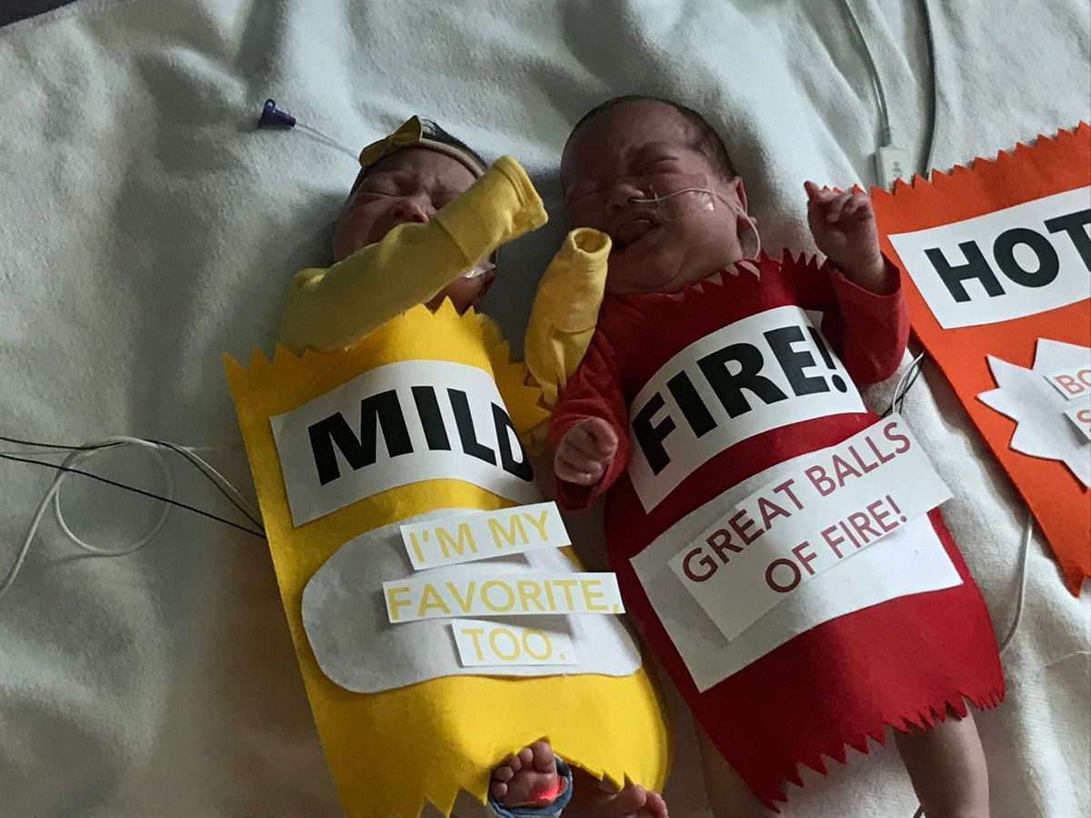 Hospital dresses up babies for Halloween