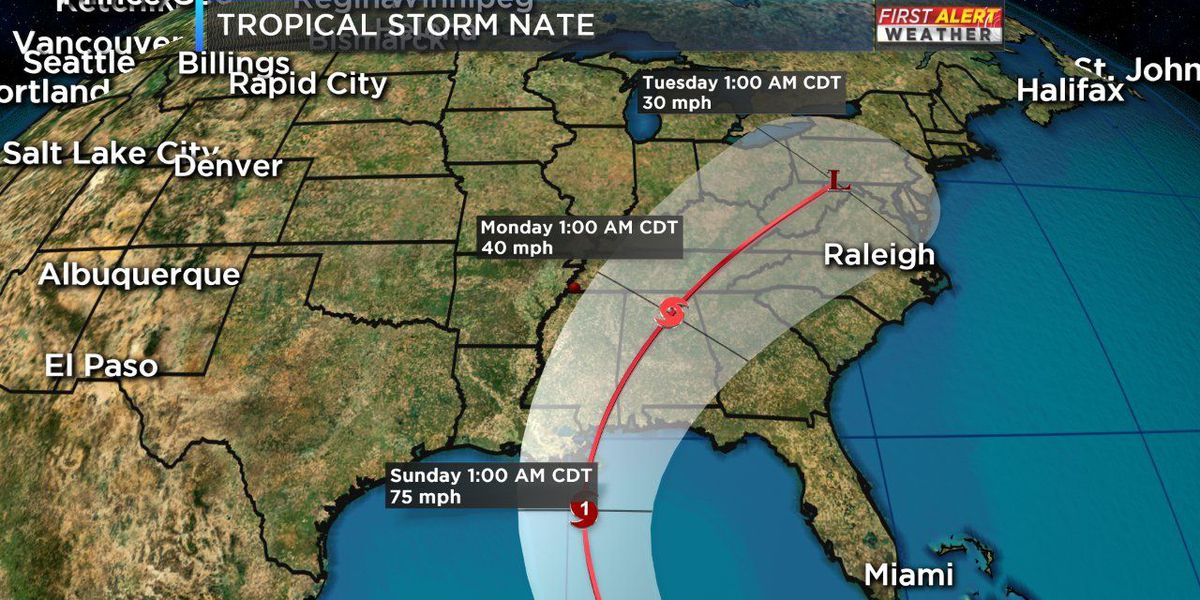 Tropical Storm Nate expected to make landfall in U.S.