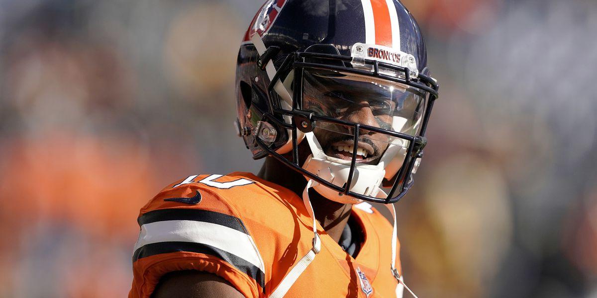 Broncos wide receiver Emmanuel Sanders hurt