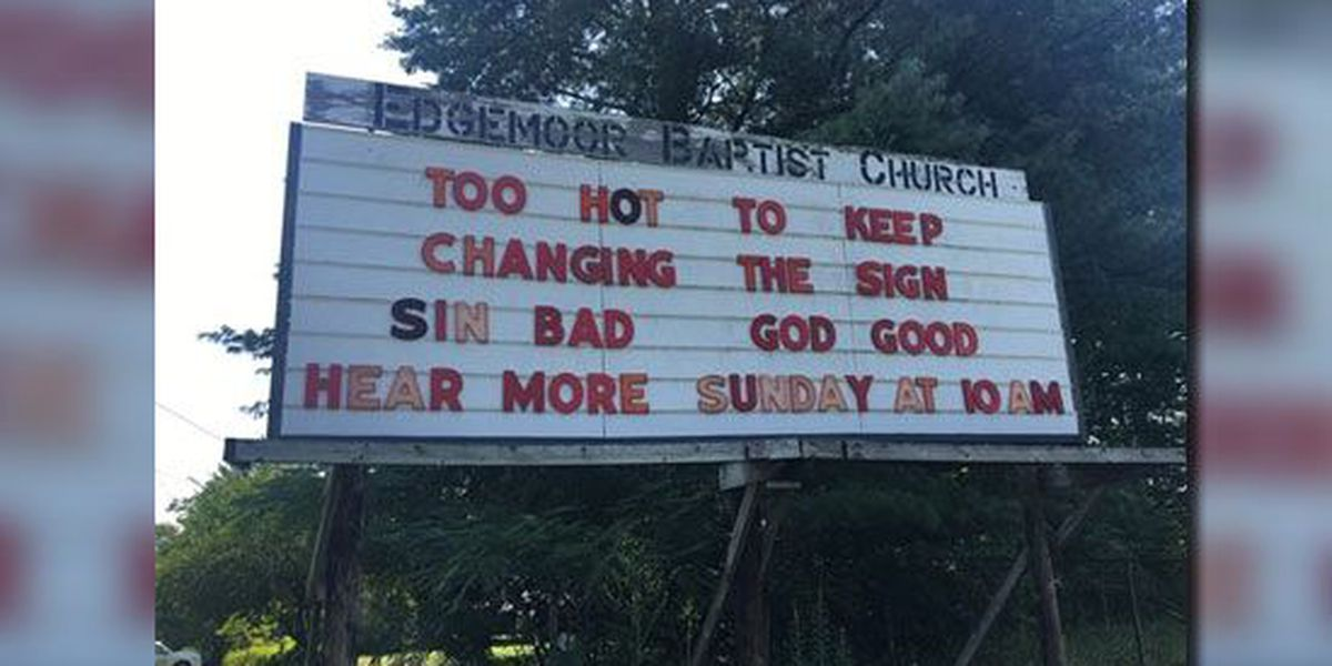 East TN church beats heat by leaving sign in hilarious state