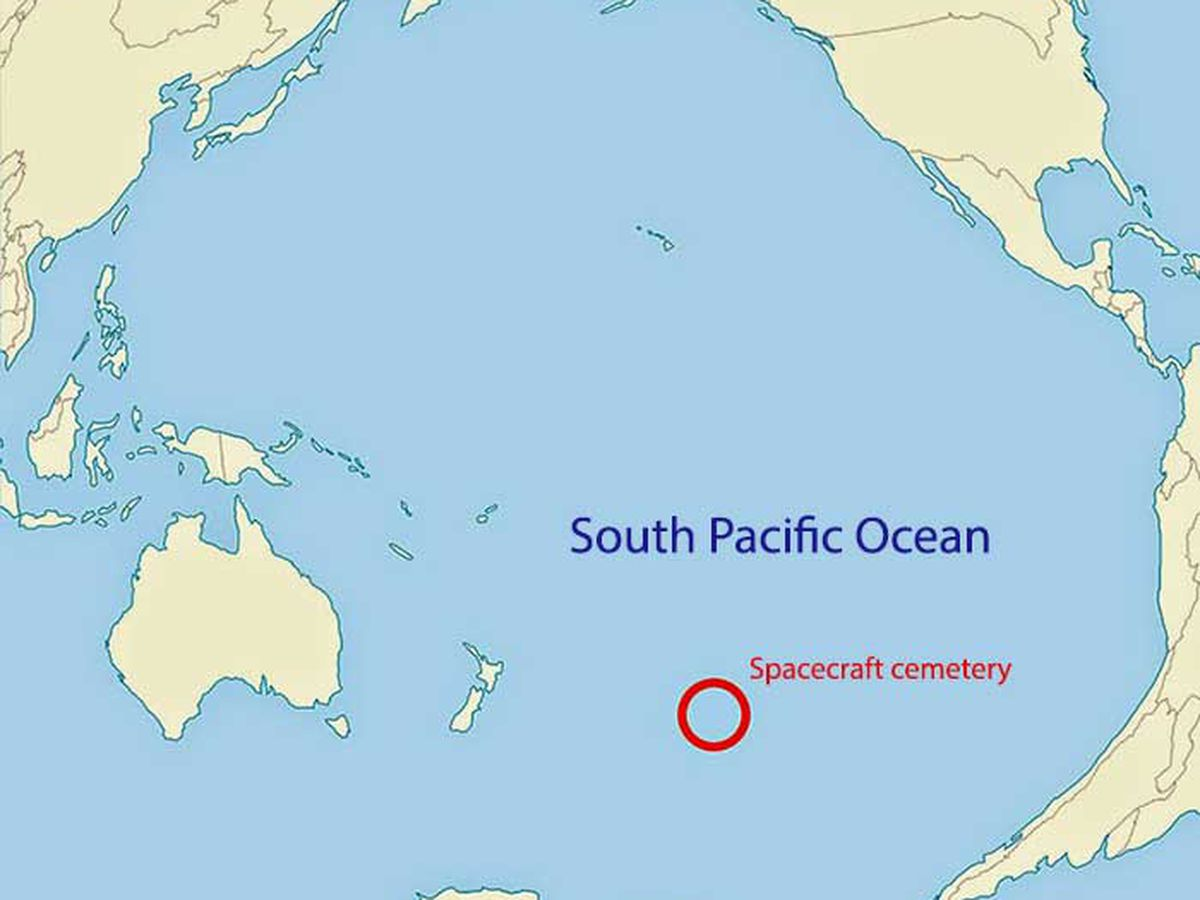 Breakdown: Why a space cemetery exists in the Pacific Ocean