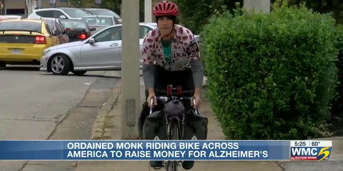 """""""Monk on a Bike"""" makes his way to Memphis"""