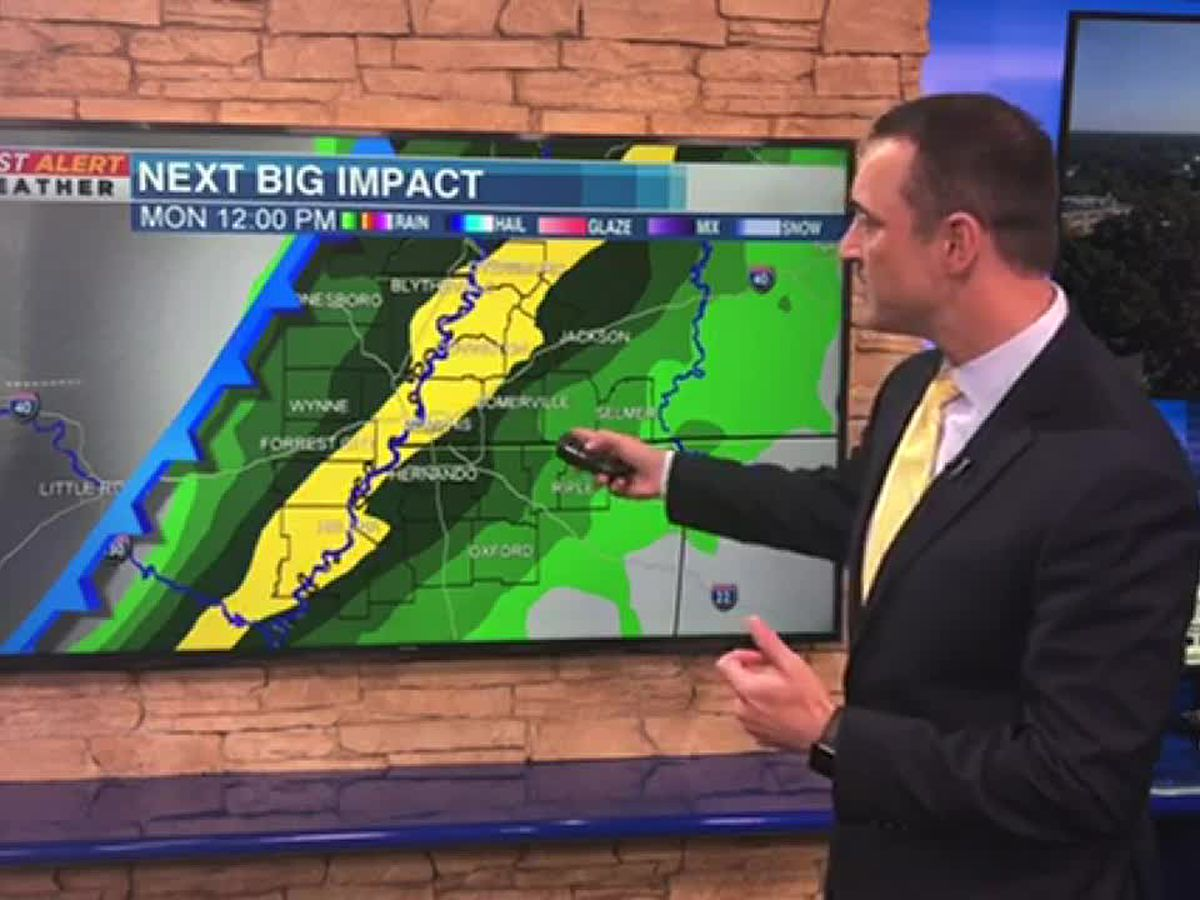 Cold front will bring storms Monday