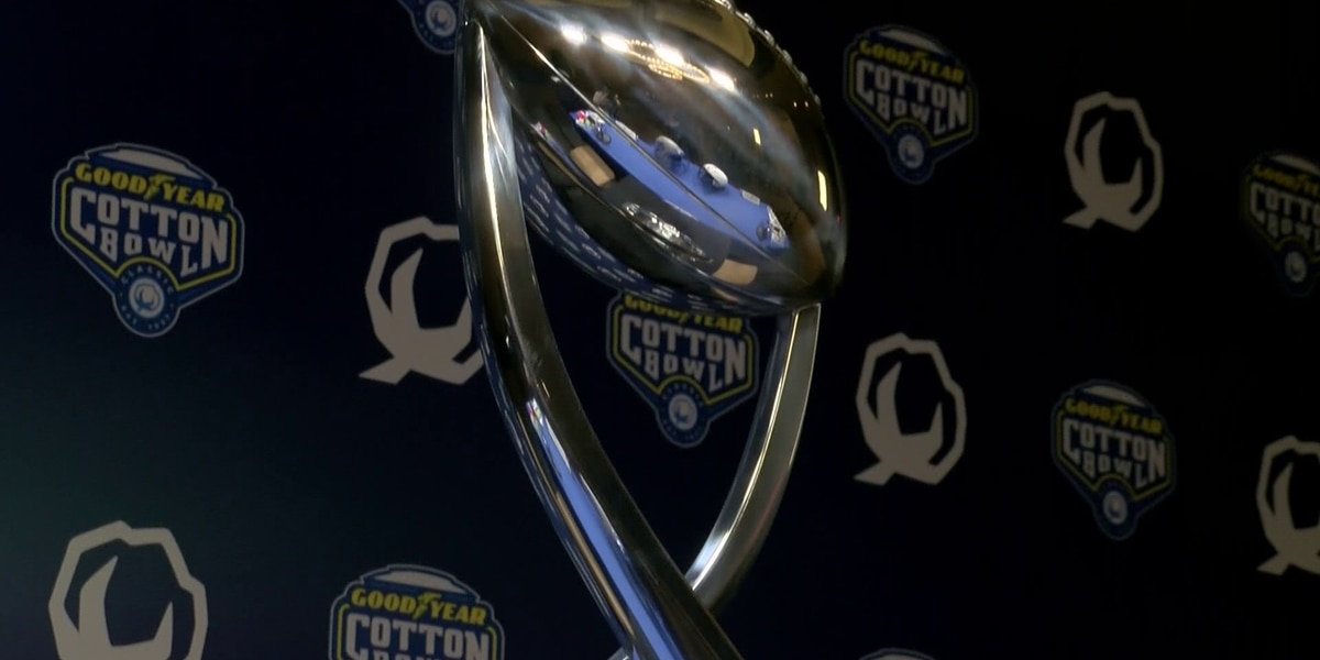 Memphis, Penn State head coaches on winning Cotton Bowl trophy