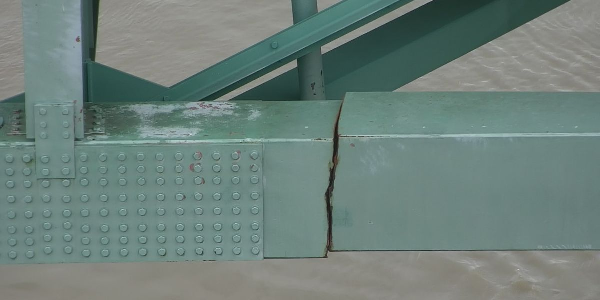 GALLERY: Photos show fracture in steel beam of I-40 bridge over Mississippi River