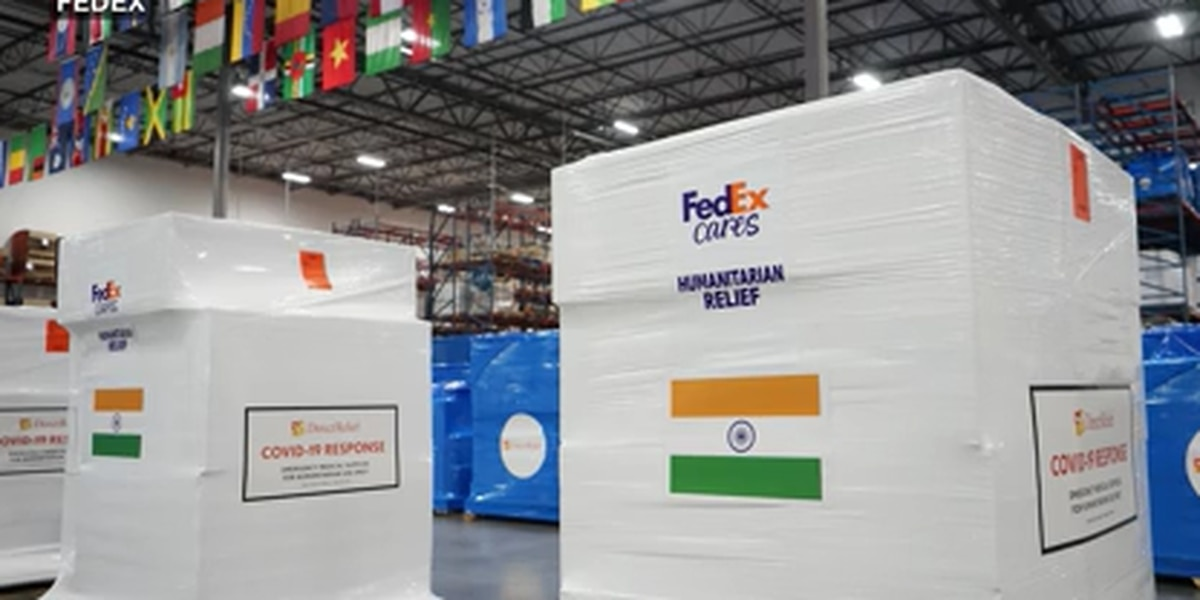 FedEx delivering critical COVID-19 aid to India