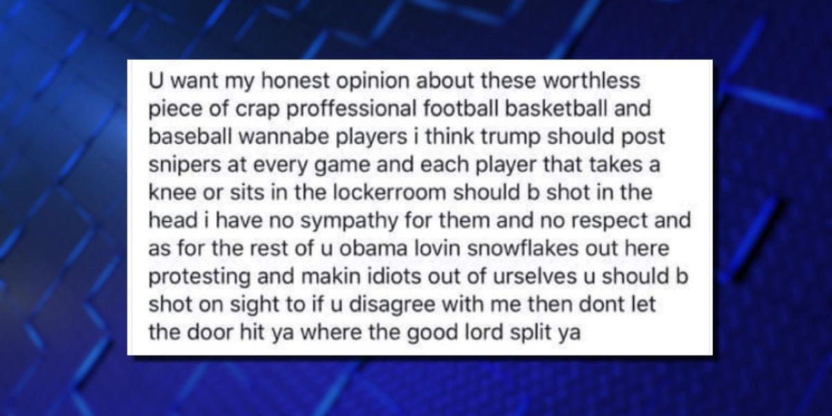 'Players who kneel should be shot in the head': AR firefighter relieved of duty over FB post