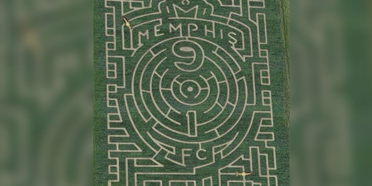 Mid-South maze features Memphis 901 FC logo