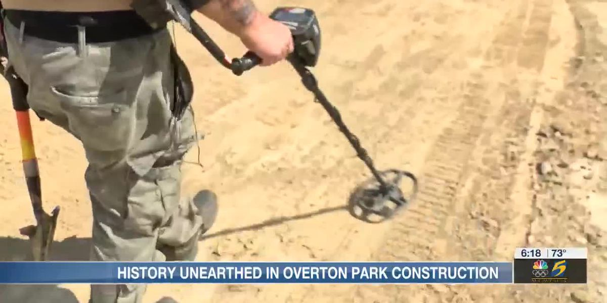 Construction at Overton Park Golf Course unearths hidden items buried for decades