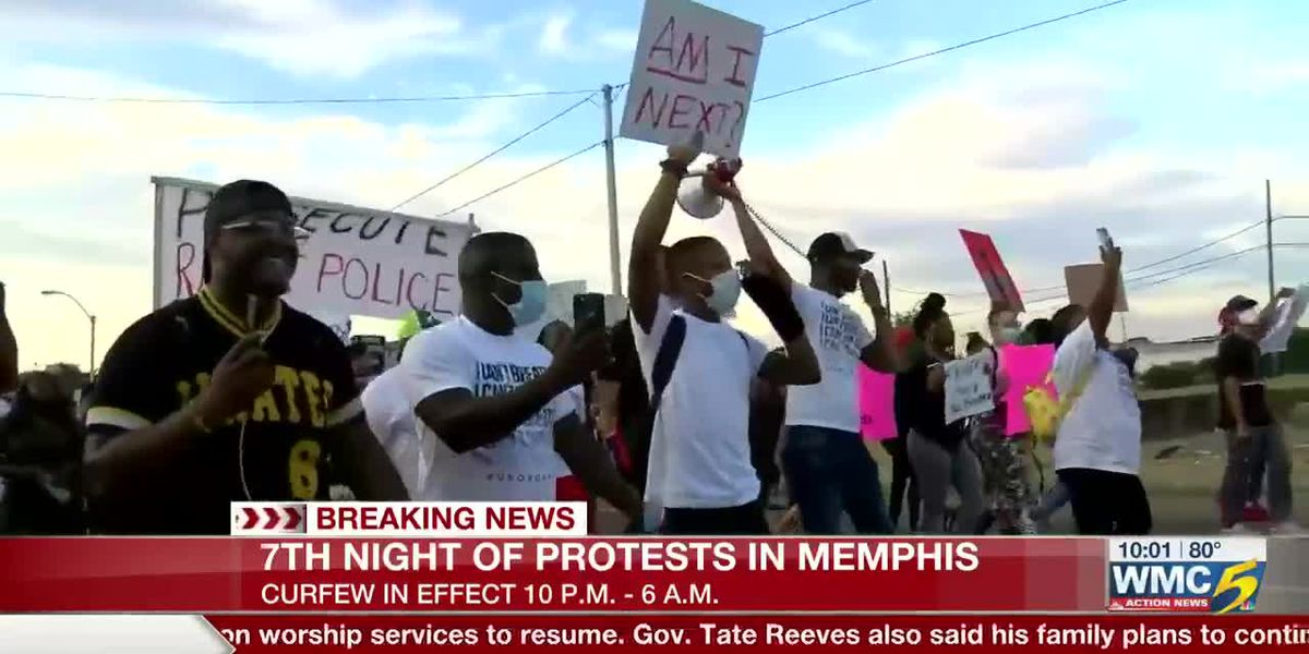 7th night of protests in Memphis