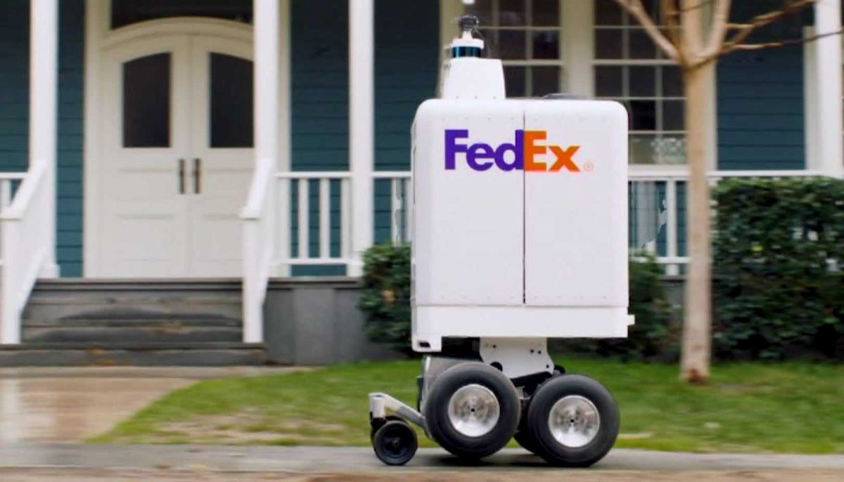 FedEx testing robot delivery this month