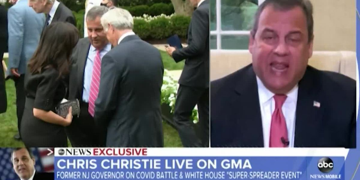 Chris Christie expresses regret for not taking COVID seriously enough