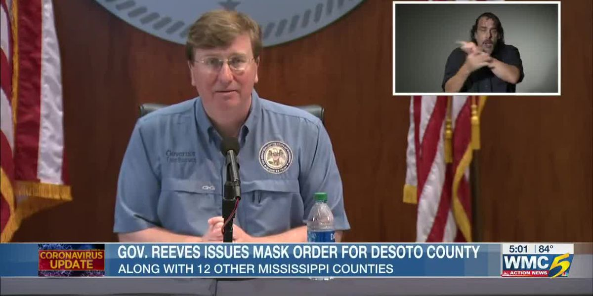 Gov. Reeves issues mask order for DeSoto County