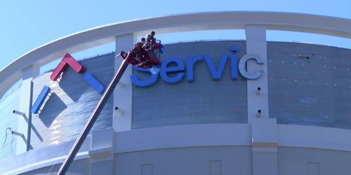 ServiceMaster sign makes its mark in Downtown Memphis