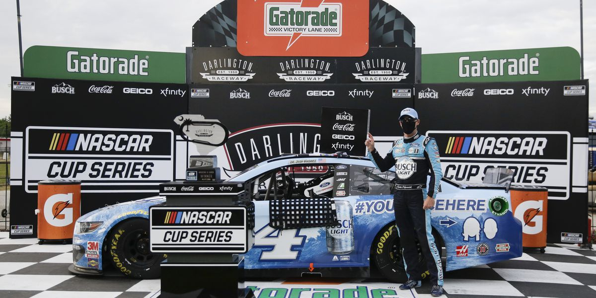 Harvick wins at Darlington as NASCAR returns to racing