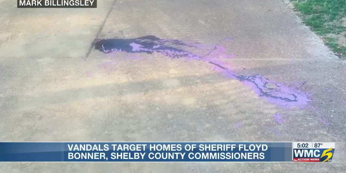 Vandals target homes of Sheriff Floyd Bonner, Shelby County Commissioners overnight