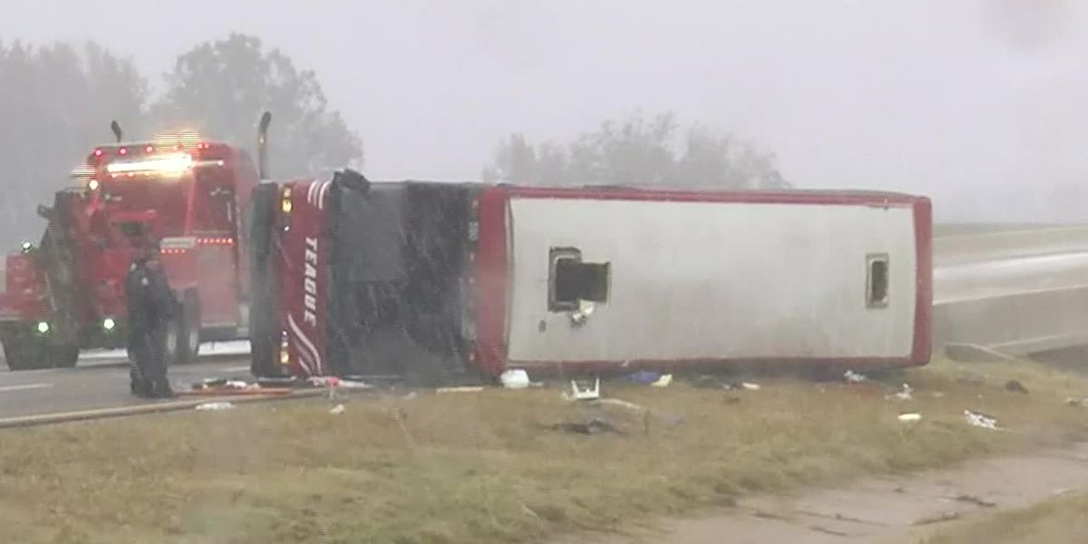 WATCH: Officials on the scene of deadly tour bus crash
