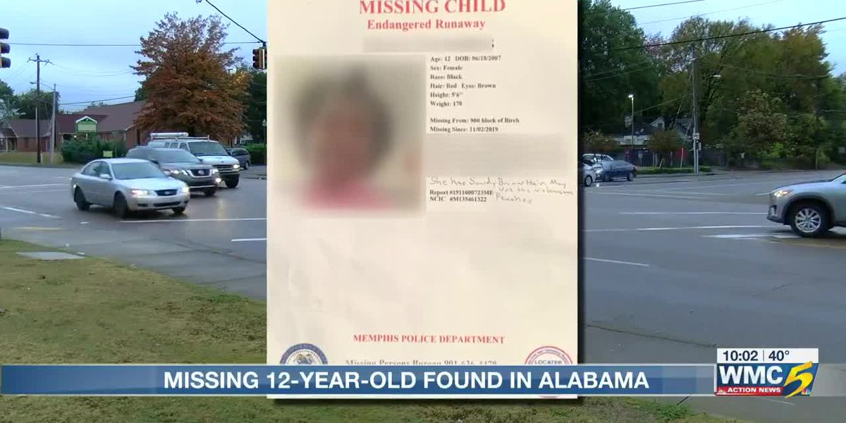 Missing 12-year-old found in Alabama