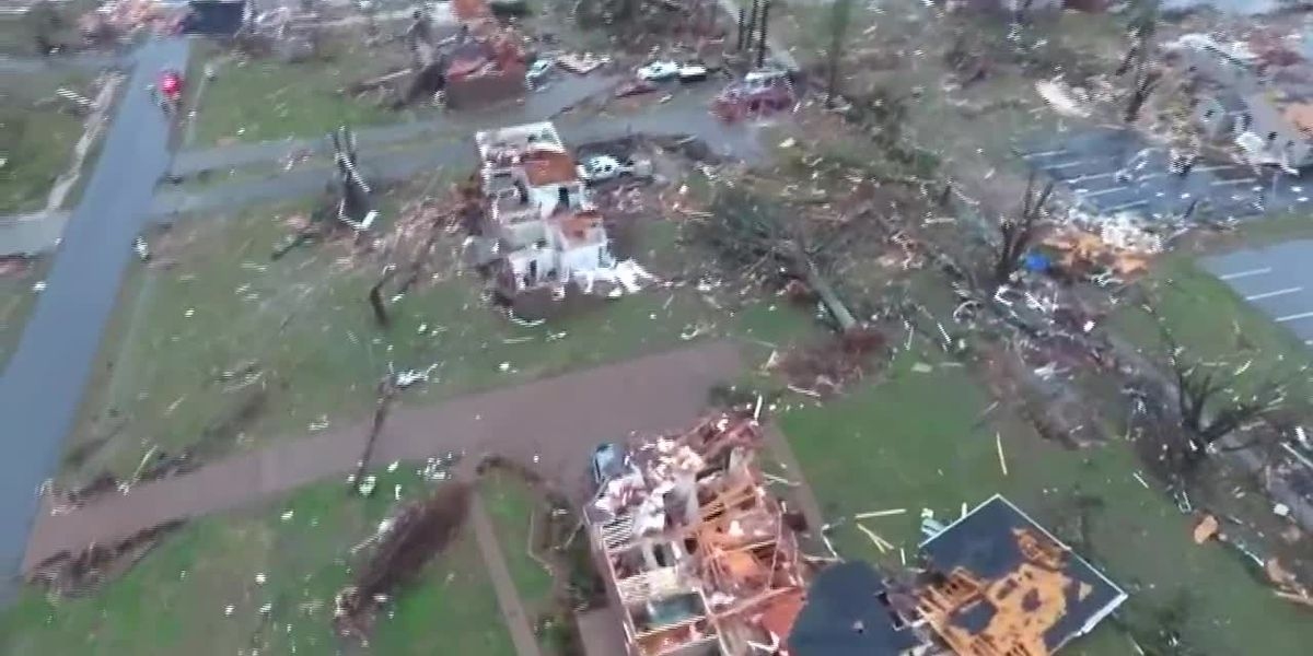 Drone footage shows homes ripped apart in Mount Juliet after deadly tornadoes